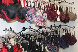 A selection of  different bra types at Custom Curves.