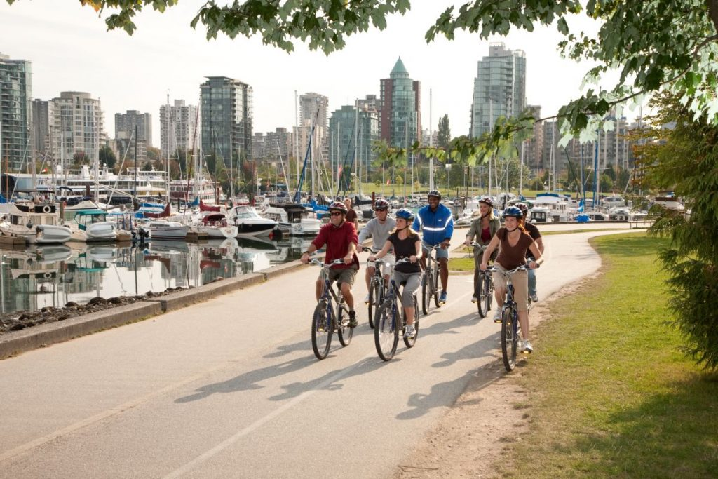 cycling stanley park vancouver's west end