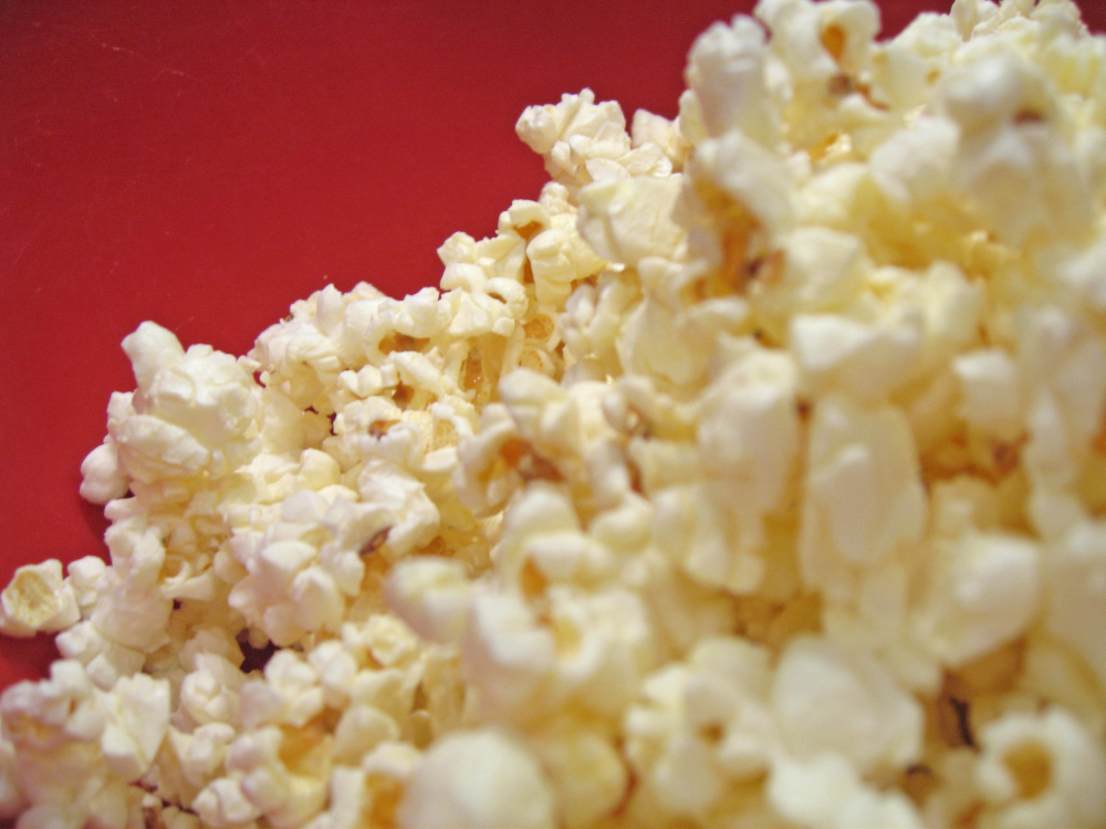 Popcorn cascading downwards