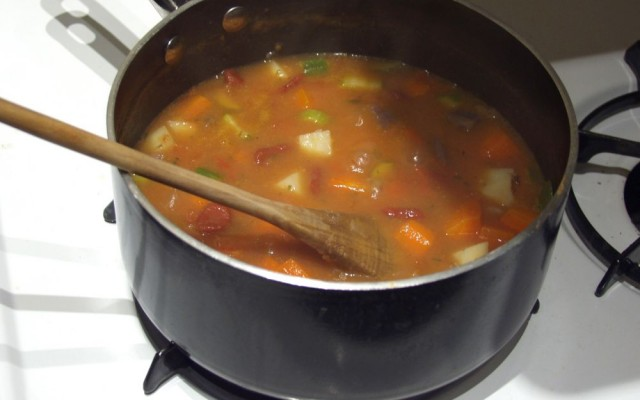 Stew made from local ingredients