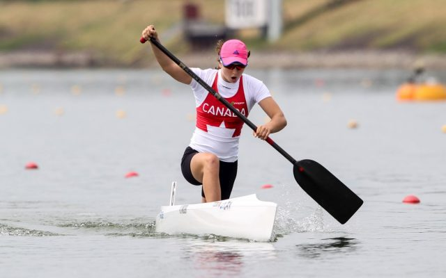 Katie Vincent competing in Racice, Czech Republic in 2016. ; Photo by Balint Vekassy / CKC